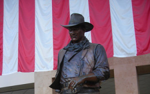 The Iconic John Wayne greets visitors at the airport named after him.  Photo by Wesley Fryer http://www.flickr.com/photos/wfryer/