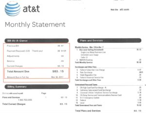 ATT rate increas over 100 percent