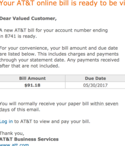 Cost of single line with ATT in Anaheim California.